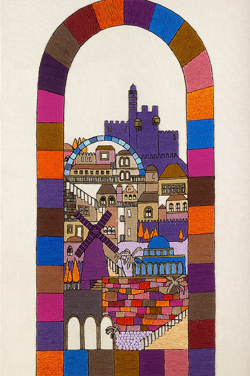 THE JERUSALEM GATE-DIGITAL PRINT-UNMOUNTED ARCH-56