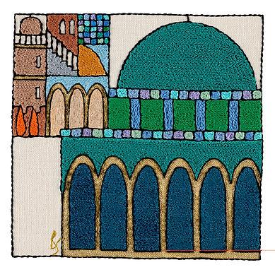 PARTS-OMAR-Original Hand Embroidered Artwork