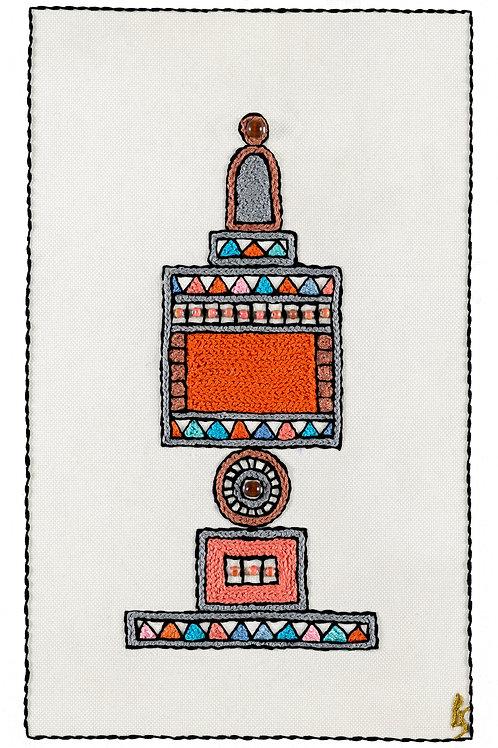 ORANGE BESAMIM-Unmounted Rolled Canvas-30x50-Archival Print