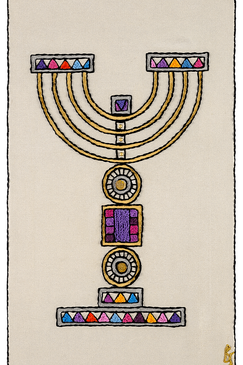 Colored-Menorah-Unmouunted Rolled Archival Print