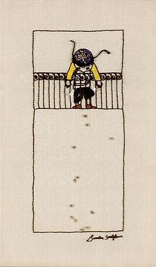 THE KIPA BOY-The Original Hand Embroidered Artwork
