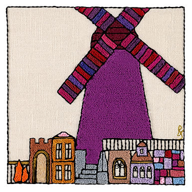 PARTS-WINDMILL-Mounted Stretched Canvas-45x45-Archival Print