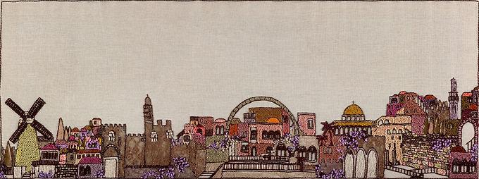 JERUSALEM LACE-The Original Hand Embroidered Artwork