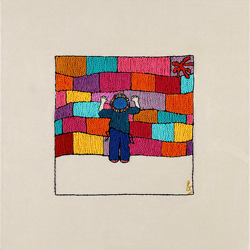 THE COLORED KOTEL BOY-Mounted Stretched Canvas-60x60-Archival Print
