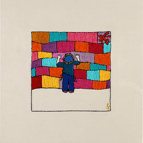 THE COLORED KOTEL BOY-Mounted Stretched Canvas Archival Print