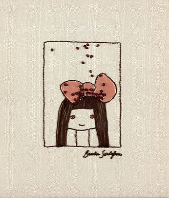 THE ORIGINAL HAND EMBROIDERED-THE BOW GIRL
