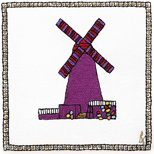 THE ORIGINAL HAND EMBROIDERED-NEW WINDMILL SYMBOL