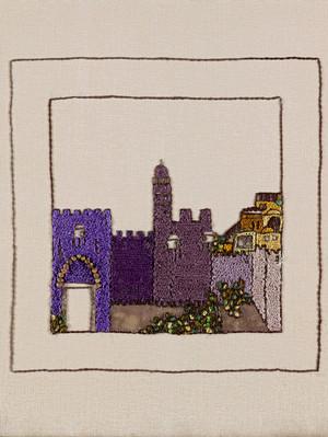 JERUSALEM PANORAMA-PURPLE MIGDAL