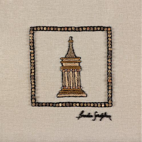 MINI JERUSALEM-AVSHALOM-The Original Hand Embroidered Artwork-35x36cm