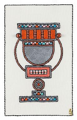 ORANGE NATLAN-Original Hand Embroidered Artwork-60x80cm