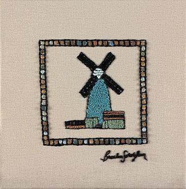MINI JERUSALEM-WINDMILL-The Original Hand Embroidered Artwork