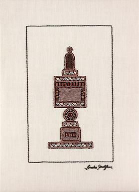 BROWN BESAMIM-Original Hand Embroidered Artwork-50x70cm