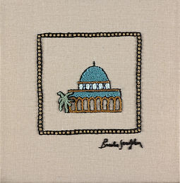 -MINI JERUSALEM-OMAR-The Original Hand Embroidered Artwork