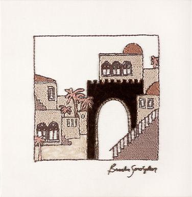 VELVET JERUSALEM-The Original Hand Embroidered Artwork