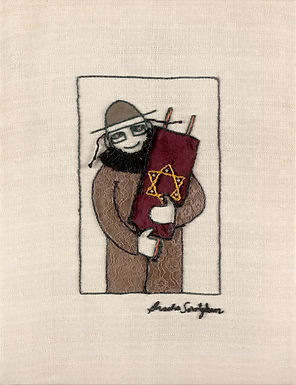 THE ORIGINAL HAND EMBROIDERED-TORAH MAN