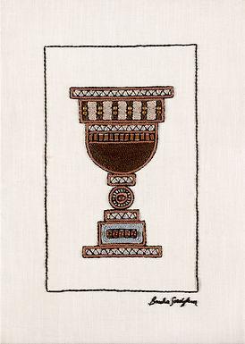 BROWN KOSS-Original Hand Embroidered Artwork-50x70cm