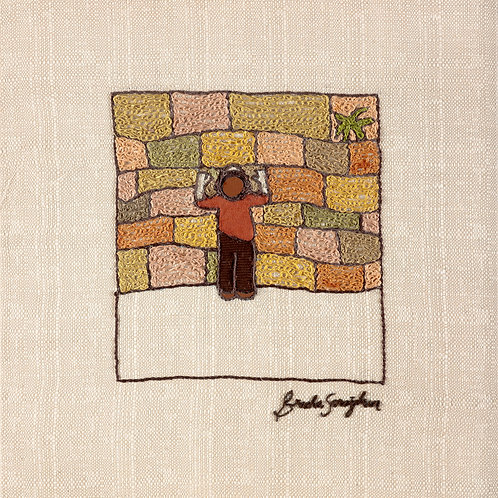 THE KOTEL BOY-The Original Hand Embroidered Artwork