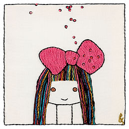 COLORED  BOW GIRL-Archival Print