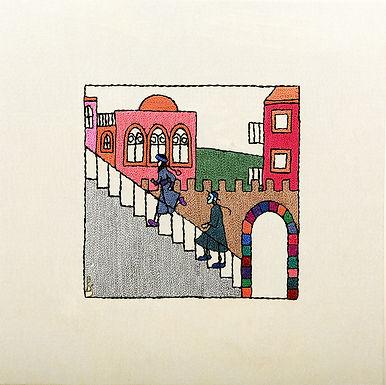 CHALMERIM STEPS-The Original Hand Embroidered Artwork