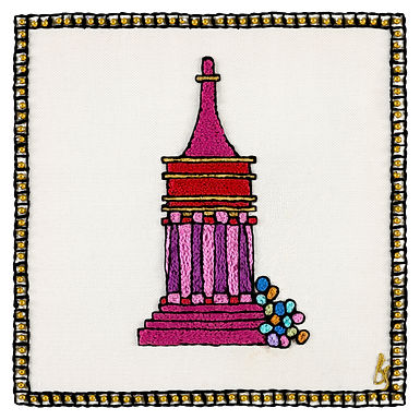 THE NEW AVSHALOM SYMBOL-Original Hand Embroidered Artwork