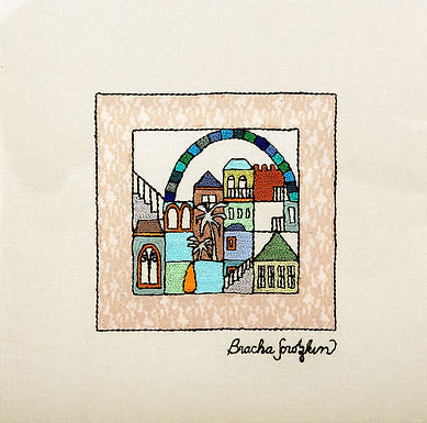 THE ORIGINAL HAND EMBROIDERED-SQUARES-WINDOW