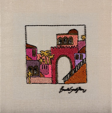 THE ORIGINAL HAND EMBROIDERED-THE RED JERUSALEM