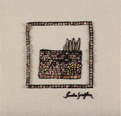 MINI JERUSALEM  KOTEL-The Original Hand Embroidered Artwork-35x36cm