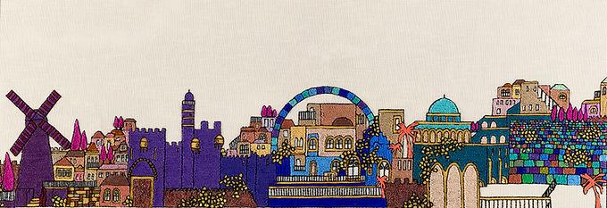JERUSALEM PANORAMA-Unmounted Canvas-100x50-Archival Print