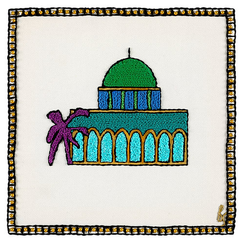 THE NEW OMAR SYMBOL-Original Hand Embroidered Artwork