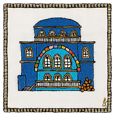 THE NEW CHURVA SYMBOL-Original Hand Embroidered Artwork
