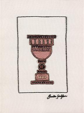 PINK KOSS-The Original Hand Embroidered Artwork-39x53cm
