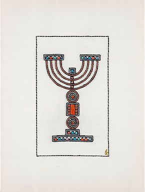 Orange-Menorah-Archival Print
