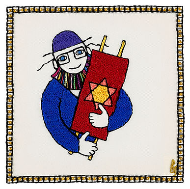 THE NEW TORAH MAN SYMBOL-Unmounted Rolled Canvas