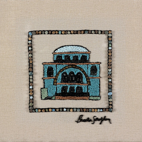 THE ORIGINAL HAND EMBROIDERED-MINI JERUSALEM-CHURVA