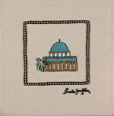 MINI JERUSALEM-OMAR-The Original Hand Embroidered Artwork-35x36cm