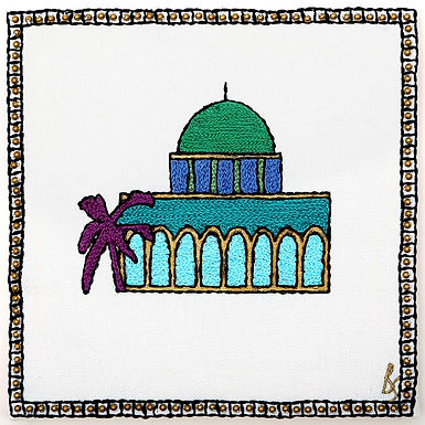 THE ORIGINAL HAND EMBROIDERED-NEW OMAR SYMBOL