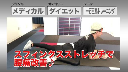 【骨格美容矯正サロンTHE ANSWER】1Day 1Minutes 1Week Vol.17 スフィンクスストレッチで腰痛改善 実践