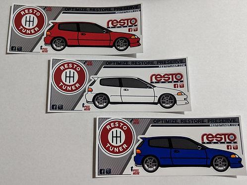 1992-1995 Civic Promo Sticker Set