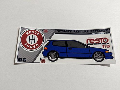 1992-1995 Civic Sticker