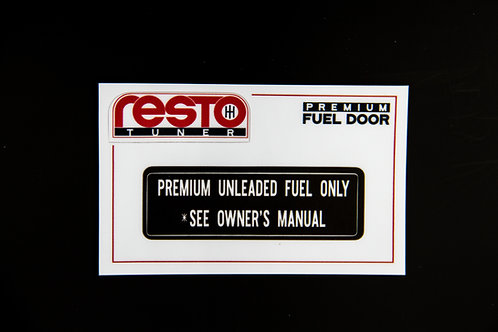Premium Fuel Door Decal