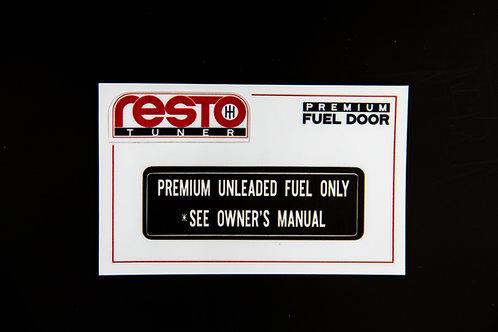 Premium Fuel Door Decal