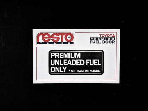 Fuel Door Decal