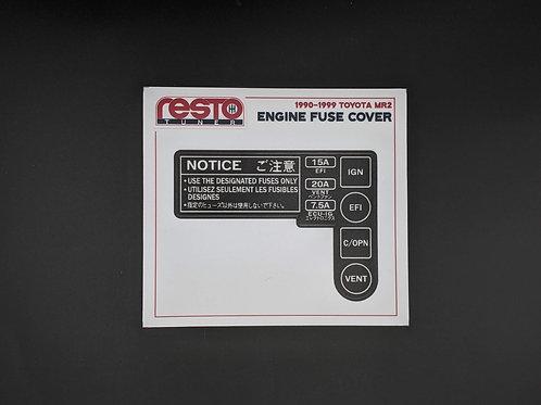 SW20 Toyota MR2 Engine Fuse Box Decal