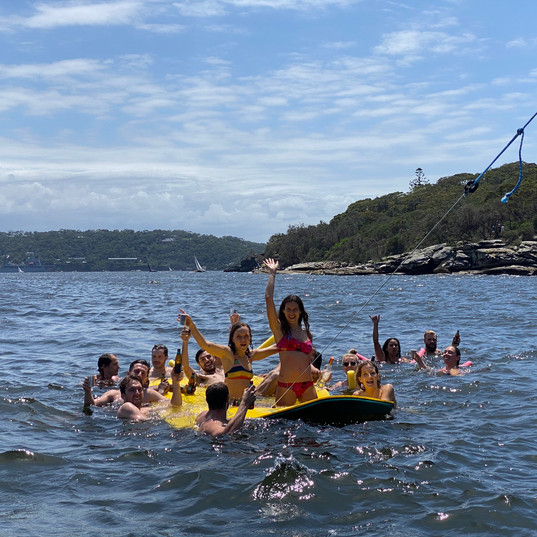 Aqua Lily Pad people on water.jpeg