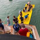 Aqua Lily Pad behind boat.jpeg