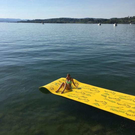 Bikini on Aqua Lily Pad on lake.jpg