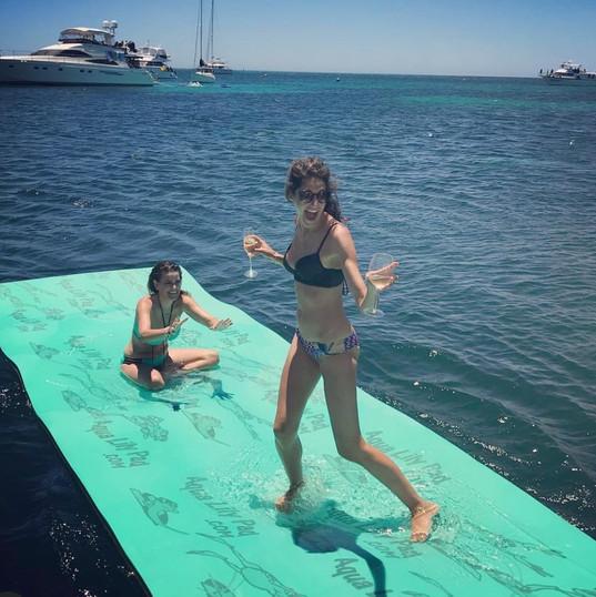 Celebrating on Aqua Lily Pad.jpg