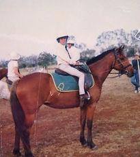 Bronte Webb on pony