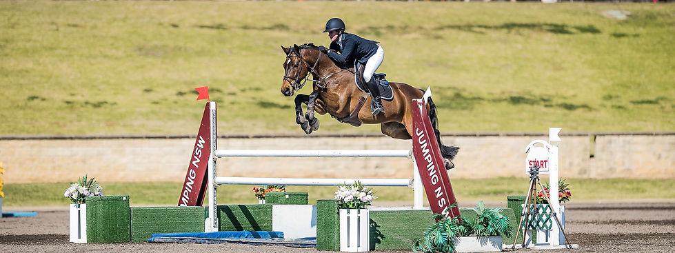 Bronte Webb BJW Equine water jump Stephe