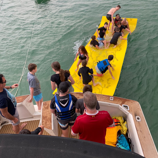 Aqua Lily Pad behind boat .jpeg
